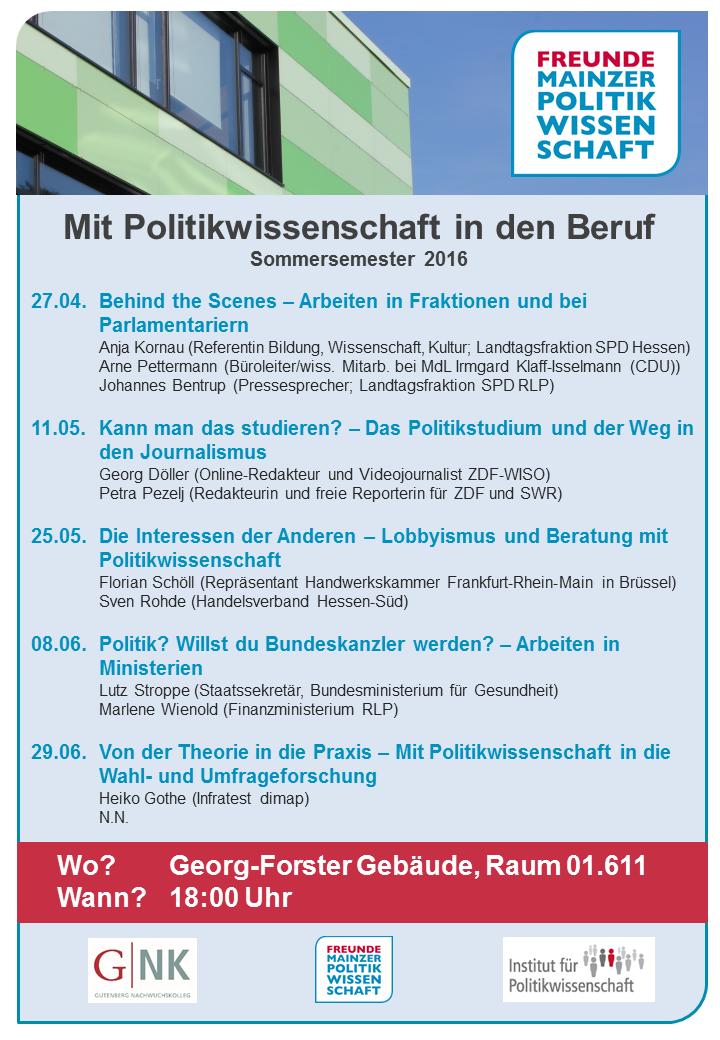 Plakat Vortragsreihe SoSe2016