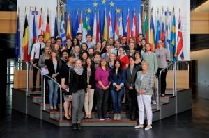 Visitors group in Strasbourg Birgit COLLIN-LANGEN